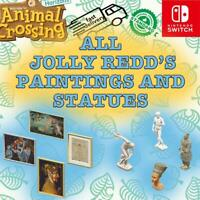 ALL Jolly Redd's Paintings & Statues 100% Authentic Animal Crossing New Horizons