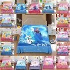 Disney 2pcs Flat Sheet Set 100% COTTON Single Double Queen Bed Princess Frozen