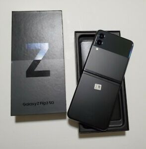 Samsung Galaxy Z Flip3 5G - Phantom Black - 128GB - Unlocked - UK Spec (VATINC)