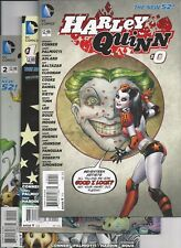 Harley Quinn #0,1,2(HTF 2nd print),3 Amanda Conner Suicide Squad New 52 VF+