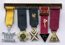Masonic Allied Breast Jewels 5 in a row Hand Crafted British Made