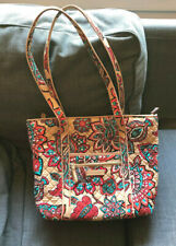 VERA BRADLEY EUC Medium Tan & Orange Paisley Shoulder Bag/Purse