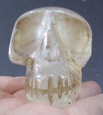 Tibet Tibetan Buddhist Crystal Carved Skull Statue