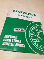 supplément manuel atelier Honda VT600C VT600 C VT 600 Shop manual éd. 90