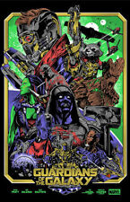Alexander Iaccarino GUARDIANS OF THE GALAXY Variant Printers Proof Poster Mondo