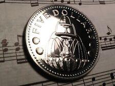 BARBADOS $5 1977-FM(U) KM16 Copper-Nickel BU SPECIMEN minted 468 pcs.VERY RARE !