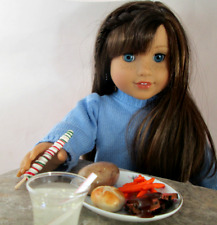 AG Doll Miniature Roast Beef, Potato and Carrot Dinner with Drink and Sucker