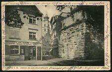 GERMANIA DEUTSCHLAND LINDAU 01 OROLOGIAIO UHRMACHER Postcard viagg 1920 - DEFECT