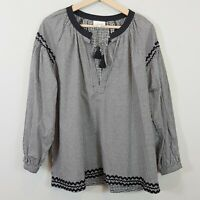 [ SEED HERITAGE ] Womens Gingham Blouse Top  | Size AU 14 or US 10