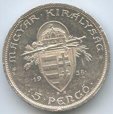 G3791 - Ungarn 5 Pengö 1938 BP KM#516 900 Jahre St.Stephan Hungary Magyar