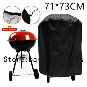 Round BBQ Cover Kettle Heavy Duty Waterproof Gas Barbeque Grill Garden Protector