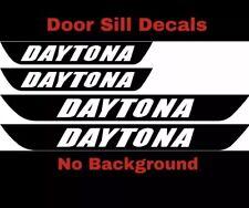 Dodge Charger DAYTONA SRT Vinyl Door Sill Decals Mopar 4pcs