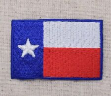 Texas State Flag - Red/White/Blue Lone-Star - Iron on Applique/Embroidered Patch
