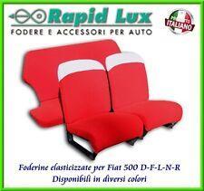 Fodere coprisedili in tessuto elasticizzato per Fiat 500 D-F-L-N-R
