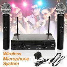 Dual Wireless Cordless DJ Karaoke KTV Club Party Microphone System Professional