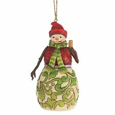 Heartwood Creek Red  & Green Snowman Hanging Ornament NEW  4047792