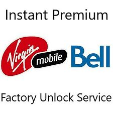 Canada Bell Virgin Premium Instant Factory Unlock Service For All iPhone