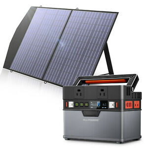 288Wh Solar Generator Portable Power Station with 18V 100W Foldable Solar Panel