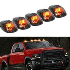 5x 9LED Smoked Cab Roof Top Running Marker Amber Light For Dodge Ram 2003-2018