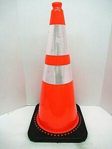 Mr Chain 93280-6 Height 28 Inch Traffic Cone And Chain Kit Orange Reflective (6)