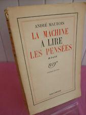 André Maurois / LA MACHINE A LIRE LES PENSÉES