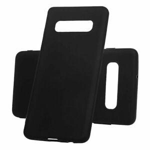 For Samsung Galaxy S10 Plus Black Gel Case TPU Back Silicone Case Cover Skin