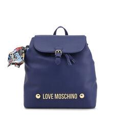Love Moschino Blue Designer Rucksack Backpack