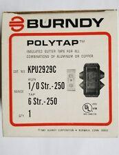 KPU2926C BURNDY GUTTER TAPS FOR COPPER AND ALUMINIUM BOX OF 6
