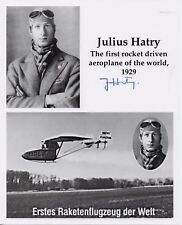 1st Rocket pilot signed 10x8 JULIAS HATRY - Deceased