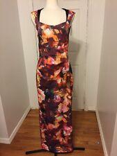 NWT Karen Millen Floral Long Dress Size 10 MSRP $499