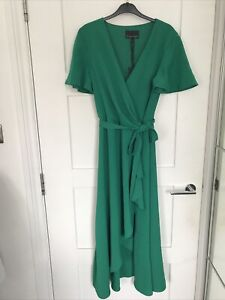 Phase Eight Green Wrap Dress 12