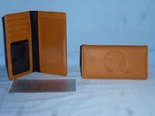 "EDMONTON OILERS   ""glove""  Leather Checkbook  NEW!  tan"