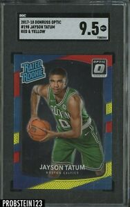 2017-18 Donruss Optic Red Yellow #198 Jayson Tatum Celtics RC Rookie SGC 9.5