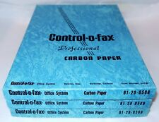 CONTROL-O-FAX Office System Professional CARBON PAPER 3 Boxes 250+ Sheets NOS