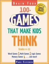 Brain Food: 100+ Games That Make Kids Think (Paperback or Softback)