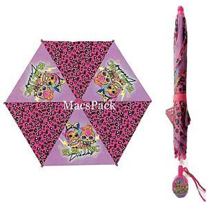 LOL Surprise Dolls Kids Toddler Rain Umbrella Clamshell Handle RARE HTF Design
