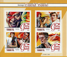 Guinea 2016 MNH David Bowie Tribute 4v M/S Music Stars Celebrities Stamps