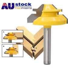 AU 1/4'' Shank Lock Miter Router Bit Tungsten 45 Degree Woodworking Cutter Tool