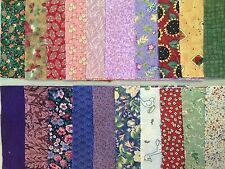Charm Squares 50 in the pack 6 inches square prints and some solids 100% cotton