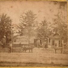 RARE Stereoview Photo - Chamberlain Lumber Sawmill 1870 Auburn NY - Waterloo