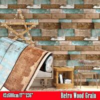 3D Wood Grain Peel and Stick Wallpaper Vinyl Self Adhesive Stickers Retro Decor