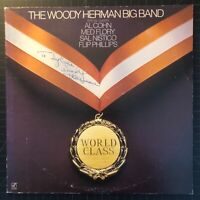 THE WOODY HERMAN BIG BAND WORLD CLASS VINYL LP 1984 CONCORD RECORDS AUTOGRAPHED