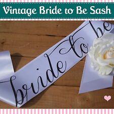 Classy Hen Night BRIDE TO BE SASH - Vintage/Shabby Chic - full colour range