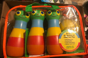 Melissa & Doug Sunny Patch Happy Giddy Bowling Set-6 Pins Bowling Ball & Bag New