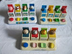Vintage Pop Up Animal Toys. 1984. Pre Owned.