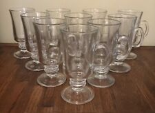 "10 Libbey Glass Tea & Coffee Cups Mugs - 5 3/4"" Tall, Latte, Irish coffee, etc"