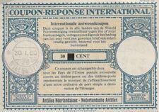 Netherlands Antilles International Reply Coupon 30c  overprint  1960