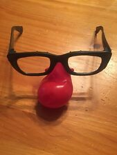 12 New Clown Glasses Fake Red Nose Dress up Costume Props Fun Party Favor