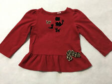 Gymboree Glamour Kitty 4T Red Black Cat Swing Top Shirt Leopard Bow Girls