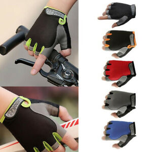 Men Women Sports Cycling Fitness GYM Workout Half Finger Non-slip Gloves Unisex